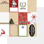 Teresa Collins - Candy Cane Lane Collection - Christmas - 12 x 12 Double Sided Paper - Tags