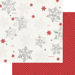 Teresa Collins Designs - Candy Cane Lane Collection - Christmas - 12 x 12 Double Sided Paper - Snowflakes