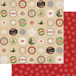 Teresa Collins - Candy Cane Lane Collection - Christmas - 12 x 12 Double Sided Paper - Labels