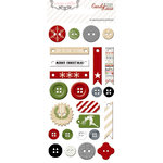 Teresa Collins - Candy Cane Lane Collection - Christmas - Chipboard Buttons