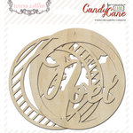Teresa Collins - Candy Cane Lane Collection - Christmas - Die Cut Wood Shapes - Ornaments