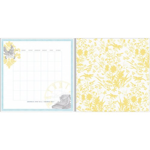Teresa Collins - Everyday Moments Collection - 12 x 12 Double Sided Paper - Calendar