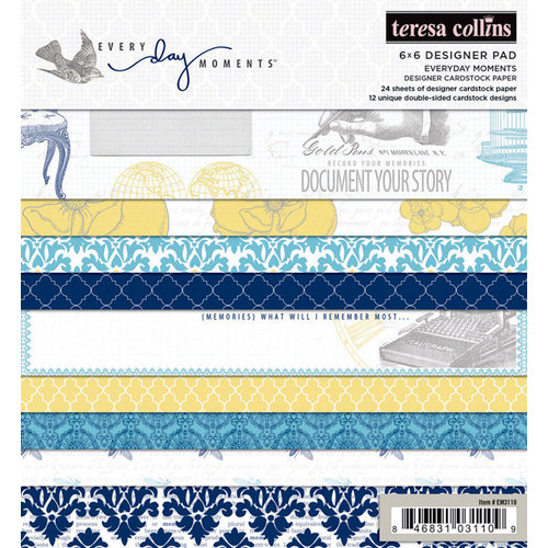 Teresa Collins - Everyday Moments Collection - 6 x 6 Paper Pad