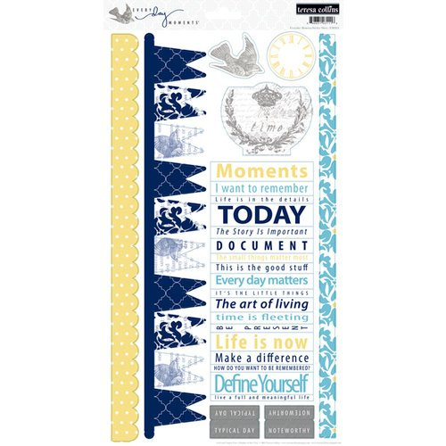 Teresa Collins - Everyday Moments Collection - Cardstock Stickers