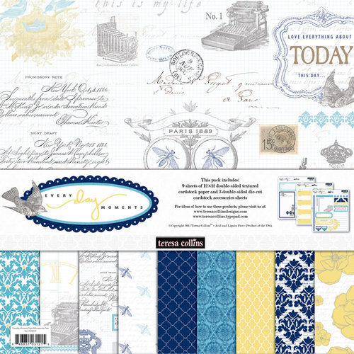 Teresa Collins - Everyday Moments Collection - 12 x 12 Paper and Accessories Pack