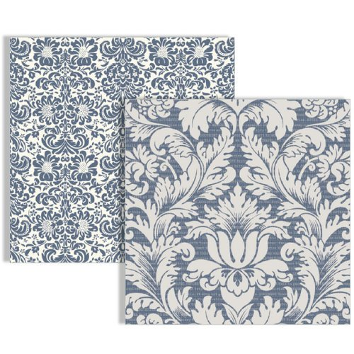 Teresa Collins - Far and Away Collection - 12 x 12 Double Sided Paper - Damask