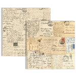 Teresa Collins - Far and Away Collection - 12 x 12 Double Sided Paper - Postcards
