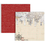 Teresa Collins - Far and Away Collection - 12 x 12 Double Sided Paper - Pennants