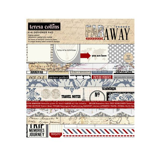 Teresa Collins - Far and Away Collection - 6 x 6 Paper Pad