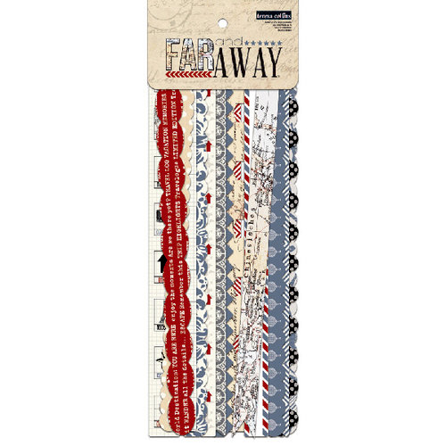 Teresa Collins - Far and Away Collection - Border Strips with Glitter Accents