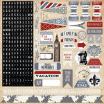 Teresa Collins - Far and Away Collection - 12 x 12 Cardstock Stickers