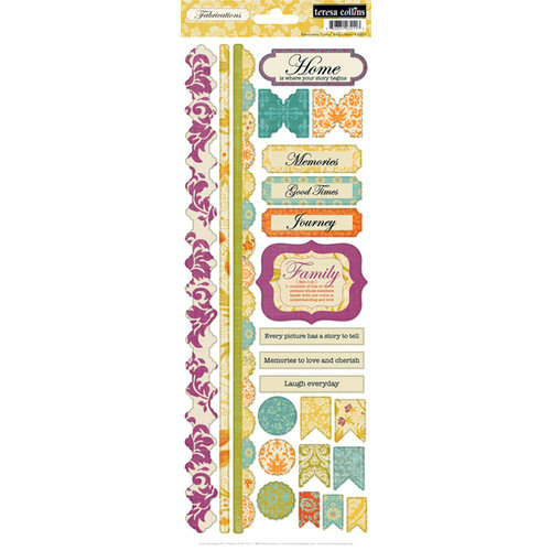 Teresa Collection - Fabrications Collection - Canvas - Cardstock Stickers