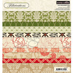Teresa Collins - Fabrications Collection - Linen - 8 x 8 Paper Pad