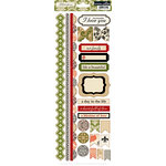 Teresa Collins - Fabrications Collection - Linen - Cardstock Stickers