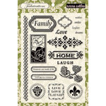 Teresa Collins - Fabrications Collection - Linen - Clear Acrylic Stamps