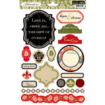 Teresa Collins - Fabrications Collection - Linen - Die Cut Cardstock