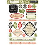 Teresa Collins - Fabrications Collection - Linen - Die Cut Chipboard - Elements