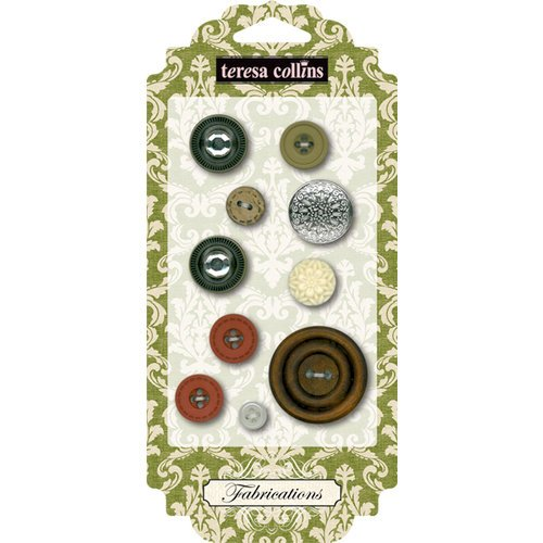 Teresa Collins - Fabrications Collection - Linen - Buttons