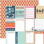 Teresa Collins - Family Stories Collection - 12 x 12 Double Sided Paper - Notecards