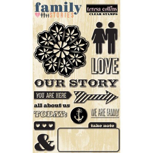 Teresa Collins - Family Stories Collection - Clear Acrylic Stamps