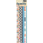 Teresa Collins - Family Stories Collection - Border Strips with Glitter Accents
