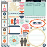 Teresa Collins Designs - Family Stories Collection - 12 x 12 Die Cut Chipboard Stickers