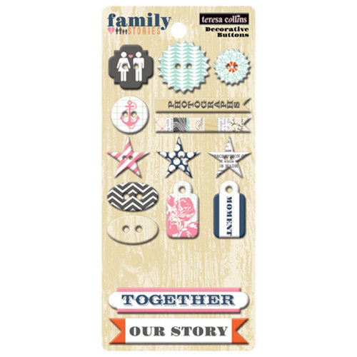 Teresa Collins - Family Stories Collection - Chipboard Buttons