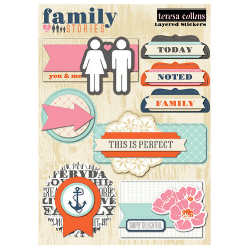Teresa Collins - Family Stories Collection - Layered Stickers