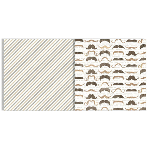 Teresa Collins - He Said She Said Collection - 12 x 12 Double Sided Paper - Mustache