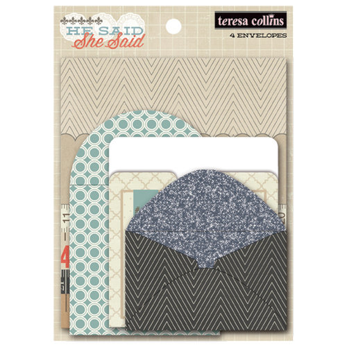 Teresa Collins - He Said She Said Collection - He Said - Envelopes