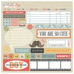 Teresa Collins - He Said She Said Collection - He Said - Die Cut Chipboard Stickers - Elements