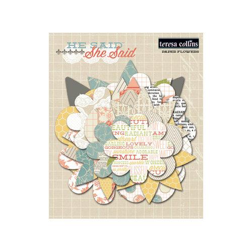 Teresa Collins - He Said She Said Collection - She Said - Paper Flowers