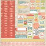 Teresa Collins - He Said She Said Collection - She Said - 12 x 12 Cardstock Stickers