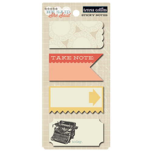 Teresa Collins Designs - He Said She Said Collection - She Said - Sticky Notes