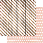 Teresa Collins - Life Emporium Collection - 12 x 12 Double Sided Paper - Striped Wood
