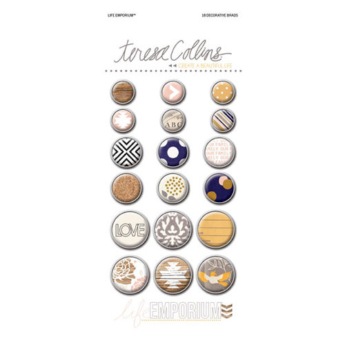Teresa Collins - Life Emporium Collection - Decorative Brads