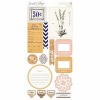 Teresa Collins - Life Emporium Collection - Die Cut Chipboard Stickers - Elements