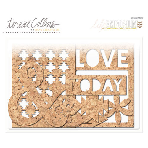 Teresa Collins - Life Emporium Collection - Die Cut Cork Shapes