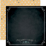 Teresa Collins Designs - Memorabilia Collection - 12 x 12 Double Sided Paper - Chalkboard