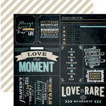 Teresa Collins Designs - Memorabilia Collection - 12 x 12 Double Sided Paper - Quotes