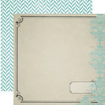 Teresa Collins - Memorabilia Collection - 12 x 12 Double Sided Paper - Damask