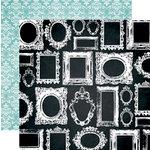 Teresa Collins Designs - Memorabilia Collection - 12 x 12 Double Sided Paper - Frames