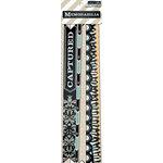 Teresa Collins - Memorabilia Collection - Border Strips with Glitter Accents