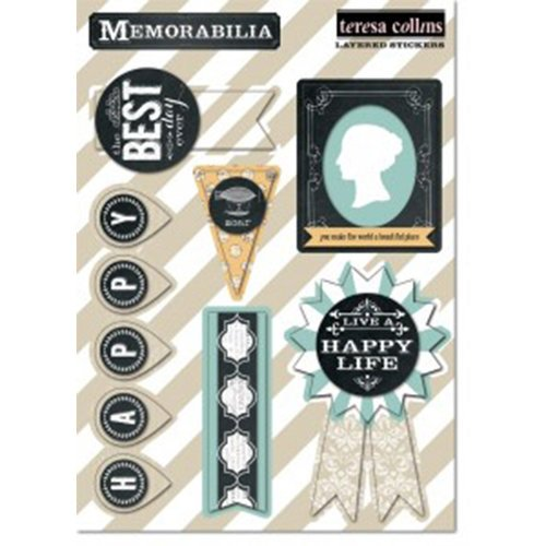 Teresa Collins - Memorabilia Collection - Layered Stickers