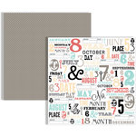 Teresa Collins - Memories Collection - 12 x 12 Double Sided Paper - Subway Calendar