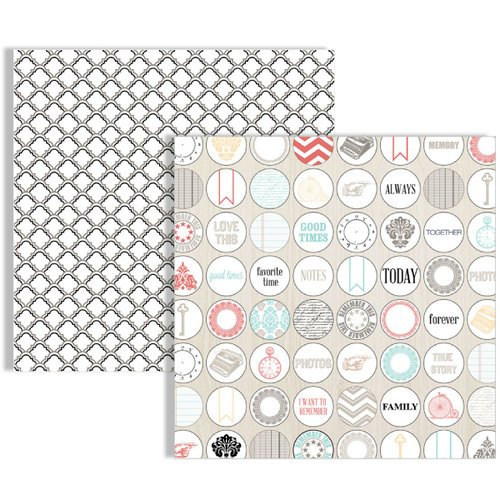 Teresa Collins - Memories Collection - 12 x 12 Double Sided Paper - Dots
