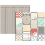 Teresa Collins - Memories Collection - 12 x 12 Double Sided Paper - Tags