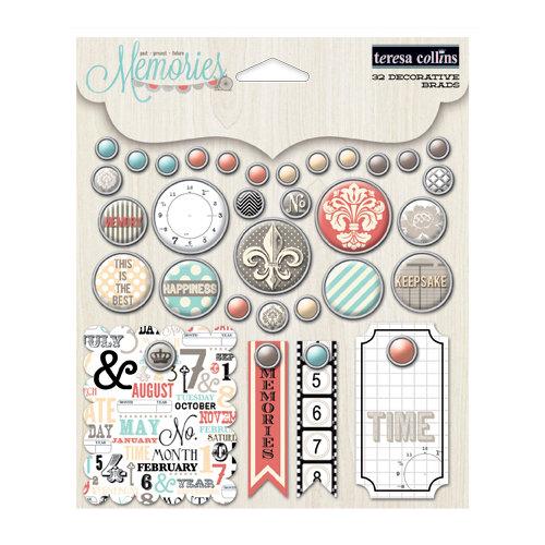 Teresa Collins - Memories Collection - Decorative Brads