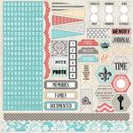 Teresa Collins - Memories Collection - 12 x 12 Cardstock Stickers