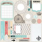 Teresa Collins - Memories Collection - 12 x 12 Die Cut Paper